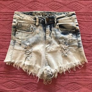 Cut Off Acid Wash Jean Shorts